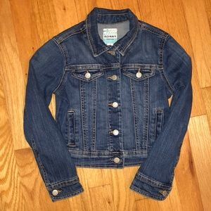 Old Navy Blue Jean Jacket girls size small (6/7)
